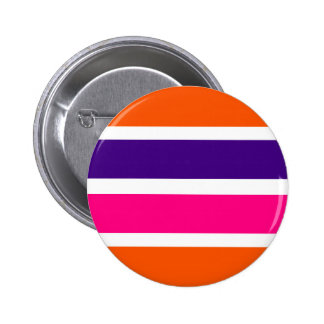 Orange, Purple and Pink Stripes Buttons