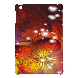 Orange, Purple and Yellow Flowers iPad Mini Case