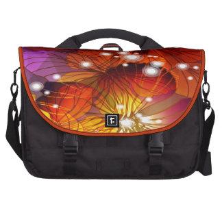 Orange, Purple and Yellow Flowers Laptop Messenger Bag