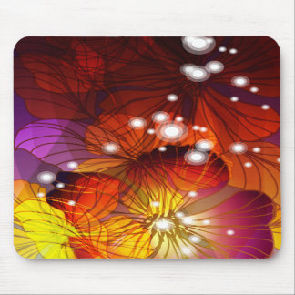 Orange, Purple and Yellow Flowers Mouse Pad