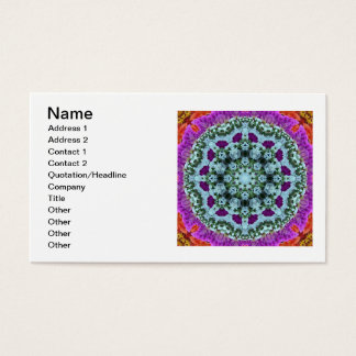 Orange Purple Blue Psychedelic Flowers Business Card