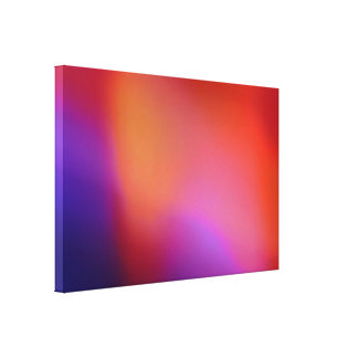 Orange Purple Blue Violet and Red Abstract Glow Gallery Wrapped Canvas