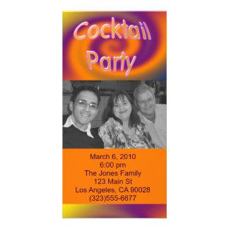 orange purple cocktail party card