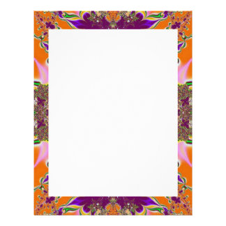 orange purple fantasy letterhead