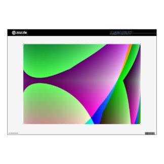Orange Purple Green Abstract Laptop Skin