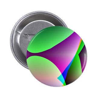Orange Purple Green Abstract Pinback Button