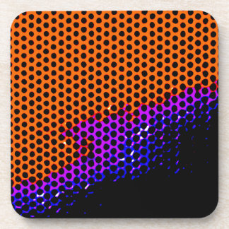 orange /purple mesh beverage coaster