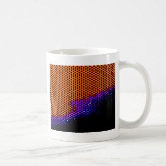 orange /purple mesh coffee mug