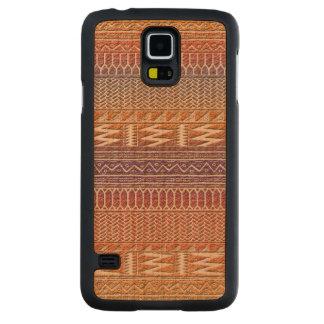Orange Purple Ombre Geo Aztec Tribal Print Pattern Carved® Cherry Galaxy S5 Slim Case
