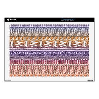 Orange Purple Ombre Geo Aztec Tribal Print Pattern Decal For Laptop