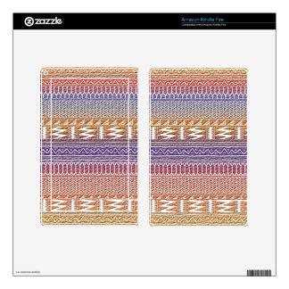Orange Purple Ombre Geo Aztec Tribal Print Pattern Kindle Fire Decal