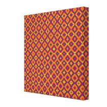 orange purple pattern canvas print
