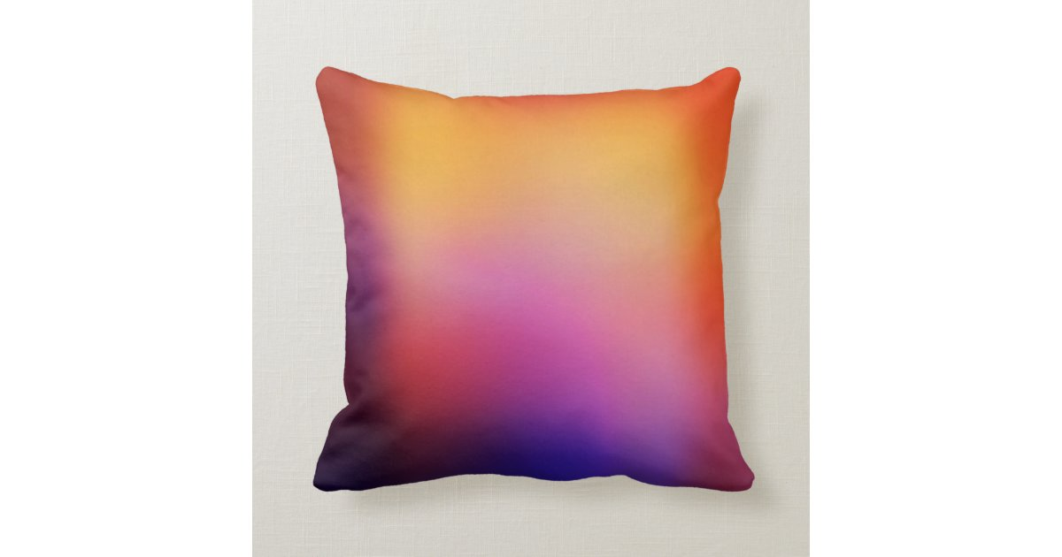 Orange Purple Pink and Yellow Abstract Glow Modern Throw Pillow Zazzle