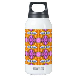 orange purple shiny orbs insulated water bottle