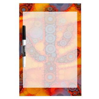 Orange Purple Southwestern Saguaro Cactus Mosaic Dry-Erase Board