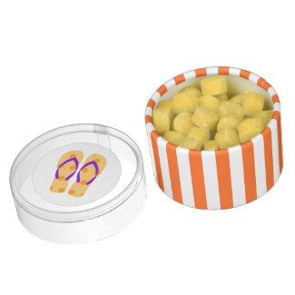 Orange Purple Summer Beach Party Flip Flops Favors Chewing Gum Favors