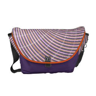 Orange Purple Swirl Messenger Bag