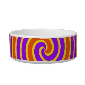Orange Purple Yellow Dizzy Spiral Bowl
