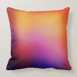 Orange Purple Yellow & Pink Abstract #2 Modern Pillow