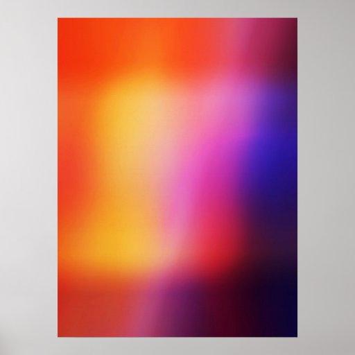 Orange Purple Yellow & Pink Abstract Glow #2 Print