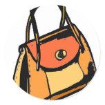 Orange Purse Classic Round Sticker