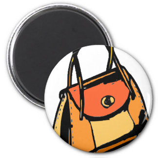 Orange Purse Refrigerator Magnets