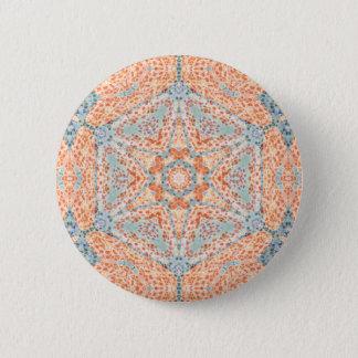 Orange Push-Up Hexagram  Button