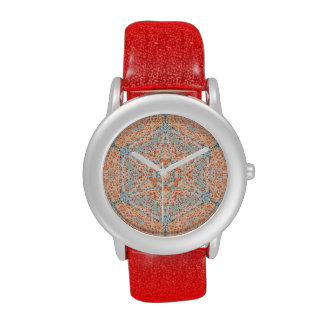 Orange Push-Up Hexagram  Watch