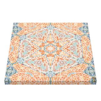 Orange Push-Up Hexagram  Wrapped Canvas