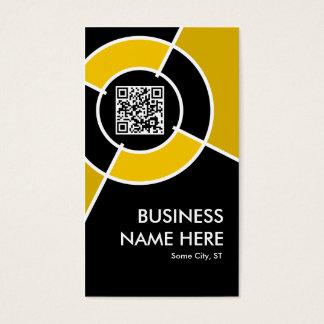 orange QR code and logo target Business Card