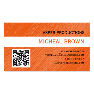 Orange QR Code Business Card