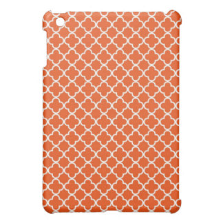 Orange Quatrefoil Clover Pattern Case For The iPad Mini