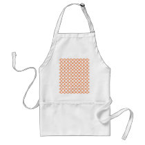 Orange Quatrefoil Pattern Adult Apron