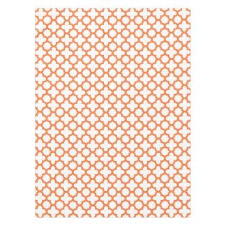 Orange Quatrefoil Pattern Tablecloth