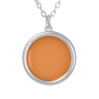 Orange Quilted Leather Pendants