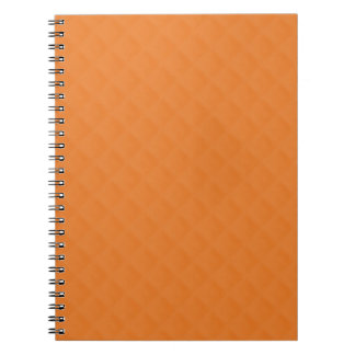Orange Quilted Leather Spiral Note Books