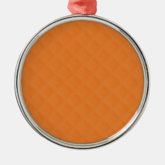 Orange Quilted Leather Christmas Ornament