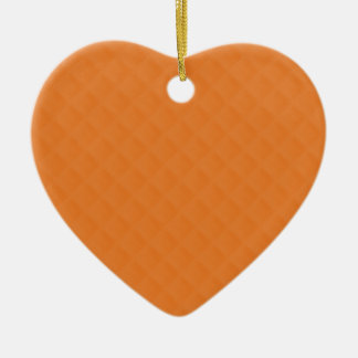 Orange Quilted Leather Christmas Ornaments