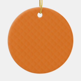 Orange Quilted Leather Ornaments
