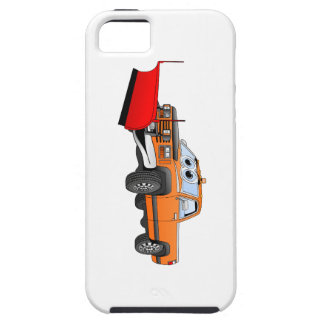 Orange R Snowplow Pick Up Cartoon iPhone SE/5/5s Case