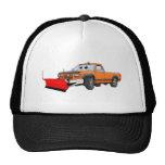 Orange R Snowplow Pick Up Cartoon Trucker Hat