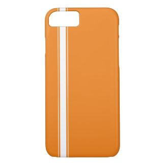 Orange Racing Stripe iPhone 7 case