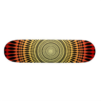 Orange Radial Design Skateboard