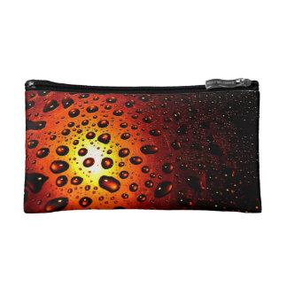 Orange Rain Drops Cosmetic Bag