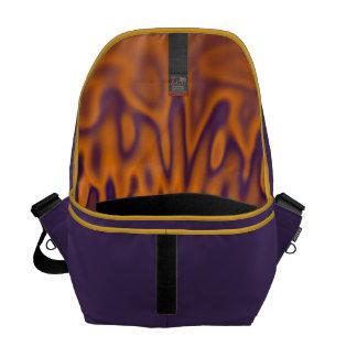 Orange Rain Messenger Bag