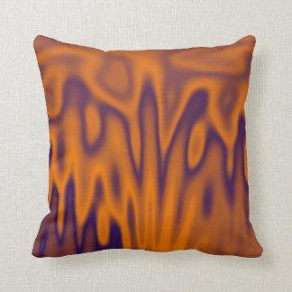 Orange Rain Throw Pillow