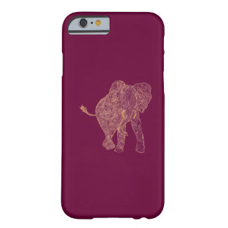 Orange/Raspberry Elephant iPhone 6 case