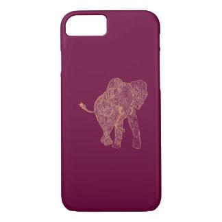 Orange/Raspberry Elephant iPhone 7 case