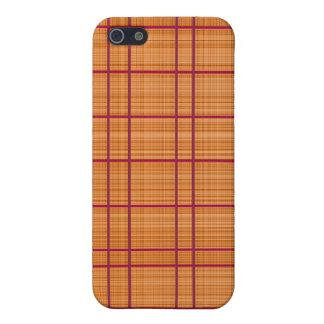Orange/Raspberry Plaid Case Covers For iPhone 5