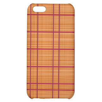 Orange/Raspberry Plaid Case iPhone 5C Covers
